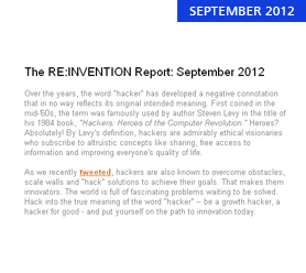 The RE:INVENTION Report: September 2012
