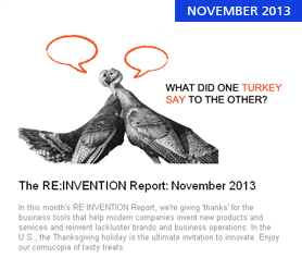 The RE:INVENTION Report: November 2013