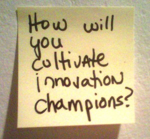 How Will You Cultivate Innovation Champions?